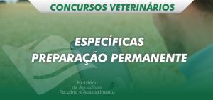 disciplinas específicas preparatório veterinário