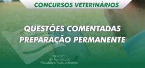 preparação permanente concursos veterinários questões comentadas
