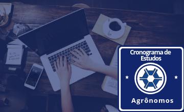 Cronograma de estudos - agrônomos